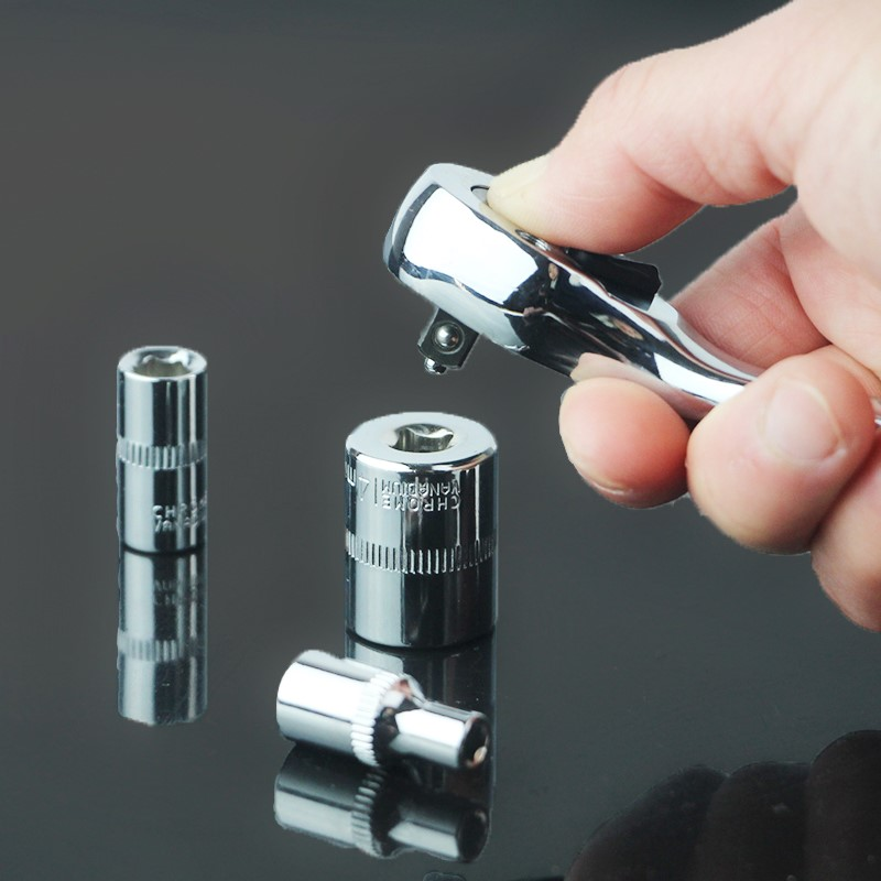 Socket wrench set fast ratchet wrench combination of auto repair auto repair kit hardware tools