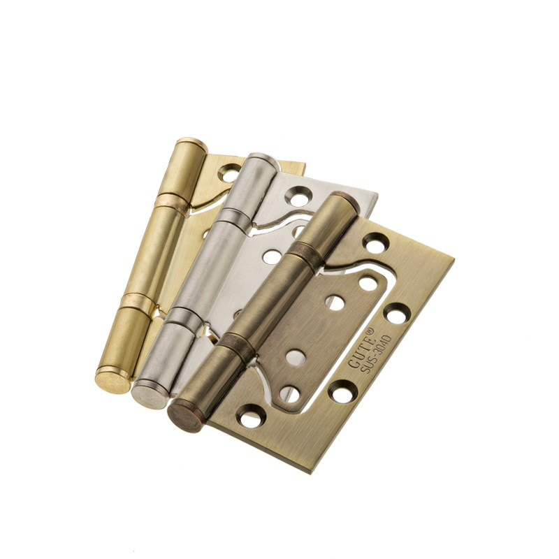 4 inch stainless steel hinge, free slotting, green bronze door folding hardware fittings [2 pieces of price]