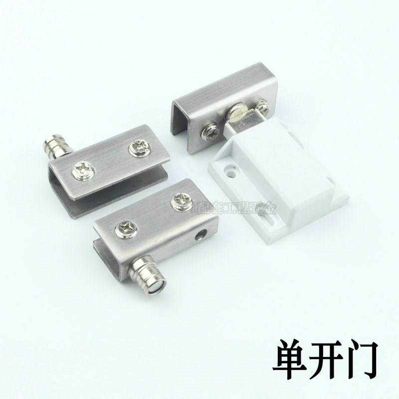Free handle glass door hinge, stainless steel upper and lower shaft, glass door cabinet, hinge glass, wine cabinet door hinge
