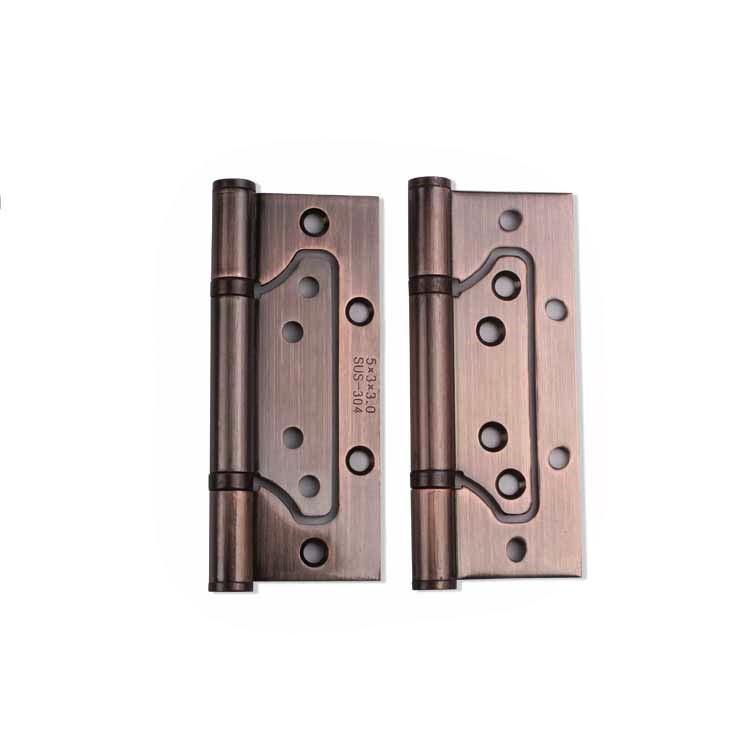 Color de las bisagras rodamientos de acero inoxidable bronce rojo de cobre de 5 pulgadas 4 pulgadas con la palabra silencio denso bisagra libre mariposa