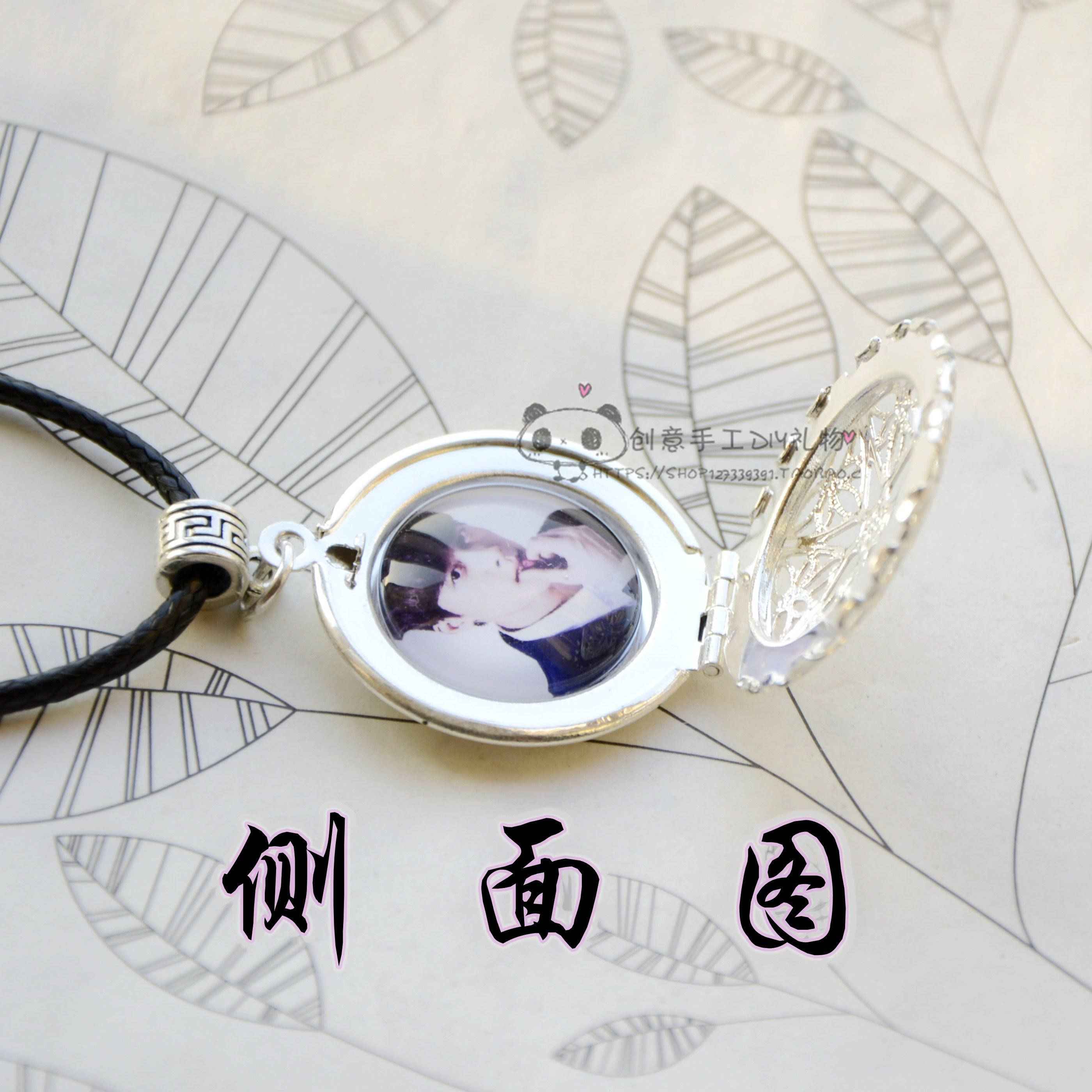 การปรับแต่งกล่องใส่จี้ย้อนยุคลายฉลุรูปคู่รักของขวัญวันเกิดแฟนผู้หญิงจบ DIY สร้อยคอ