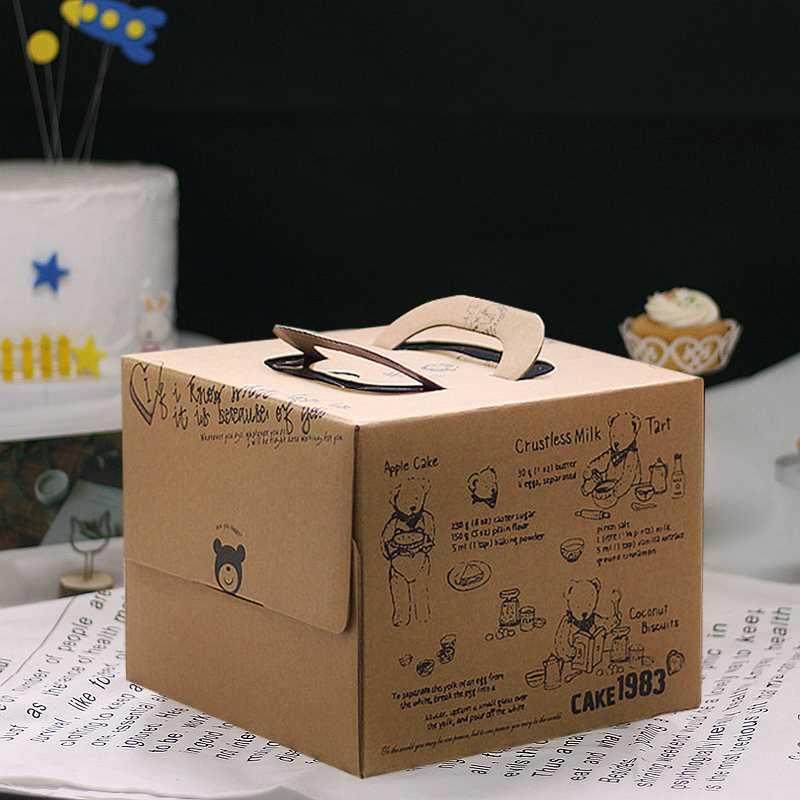 6 pulgadas pulgadas coreano - 8c DELICIOUS dorado caja de pastel de postre Caja tostado envasado variedad de West Point.