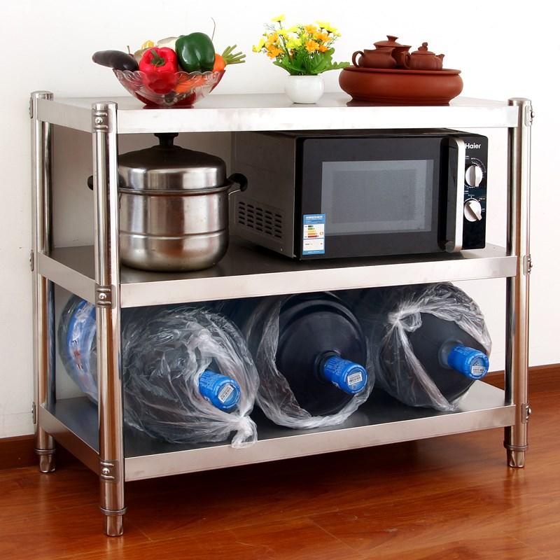 утолщение СВЧ плита на кухне 3 слоя стеллажи для хранения овощей рамы из нержавеющей стали печь полки посадку на заказ