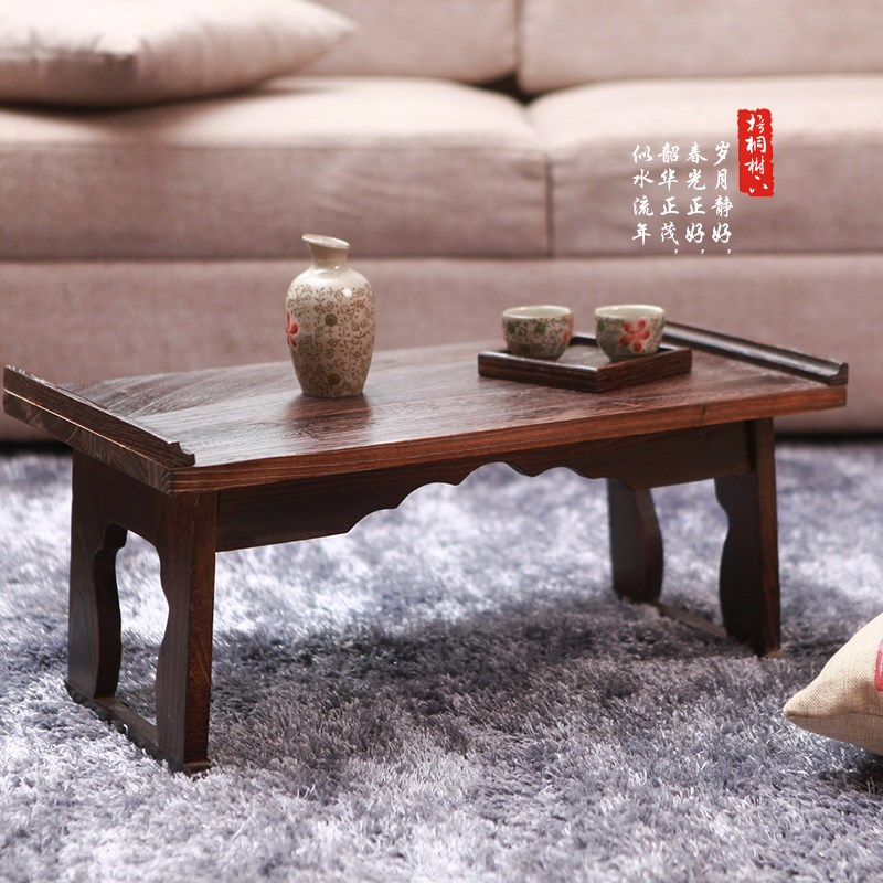 Promotional sale table small tea table wood windows tatami bed folding desk computer desk is cheap.