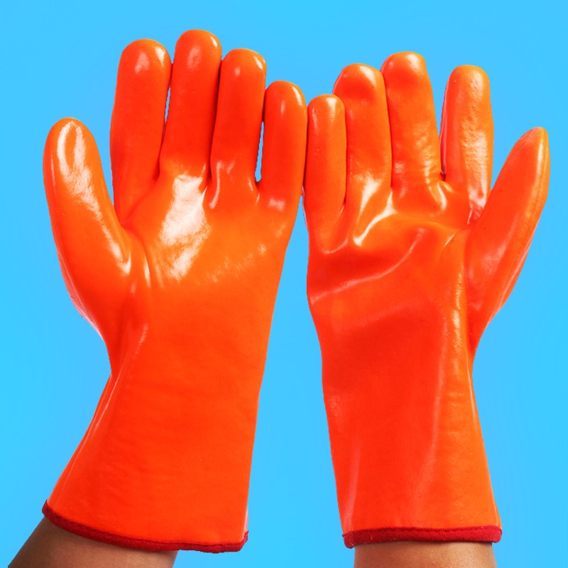 Waterproof gloves, car wash gloves, thickening oil proof gloves, oil proof work, winter labor protection, low temperature cold storage antifreeze