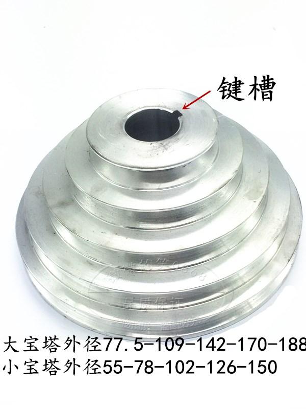 طاولة صغيرة آلة الحفر محرك متزامن حزام بو عجلة عجلة الألومنيوم مخدد عجلة القرص آلة أجزاء المعبد