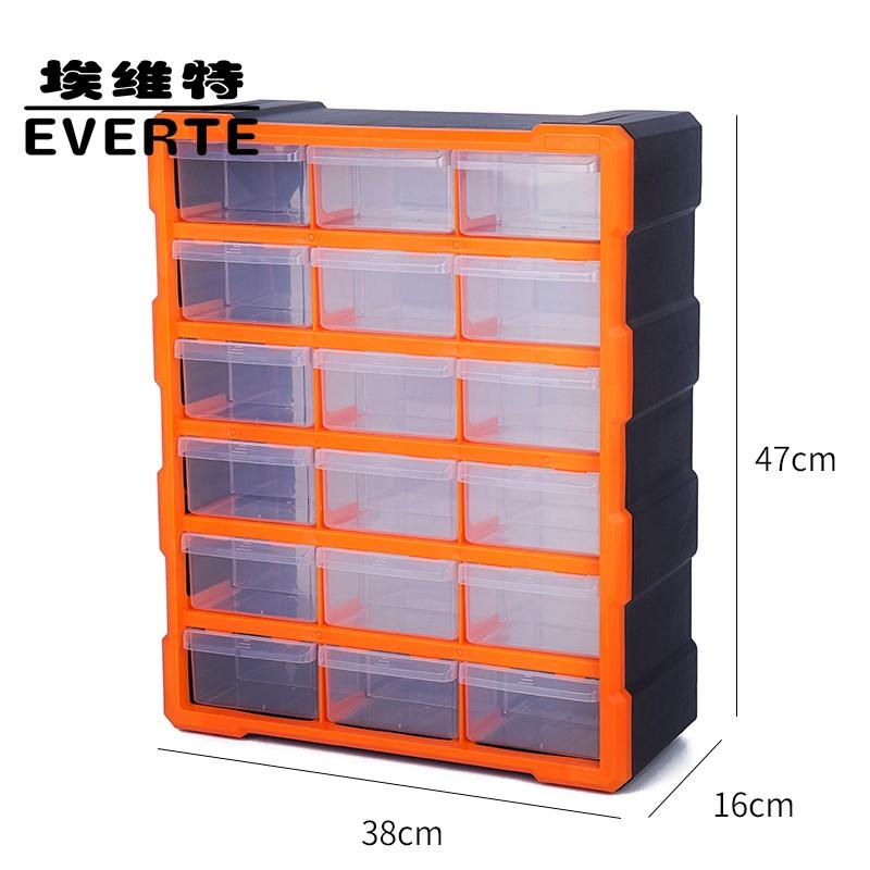 Peças de plástico caixa de gaveta caixa de armazenamento armário peças acessórios Tipo parafuso de metal caixa de ferramentas