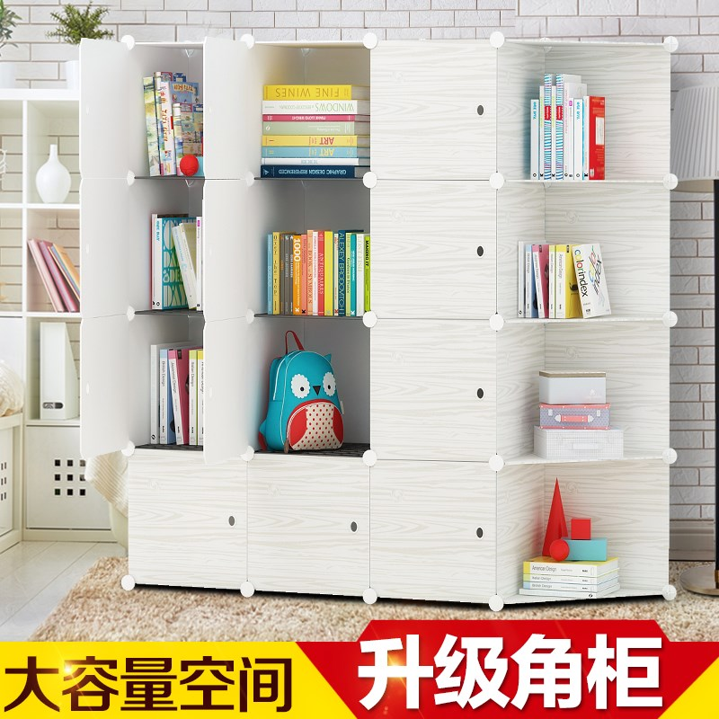 szafki, półki z drzwi szafy wolności z imitacji drewna w połączeniu z gabinetu proste zawierające nowoczesne rozwiązania, wielofunkcyjne.
