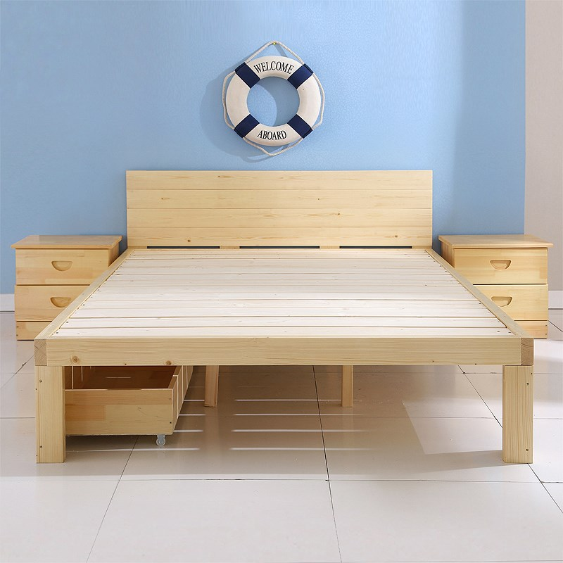 Special pure single bed, 1.2 pine bed, children bed double bed, 1.8 meters, mail 1.5