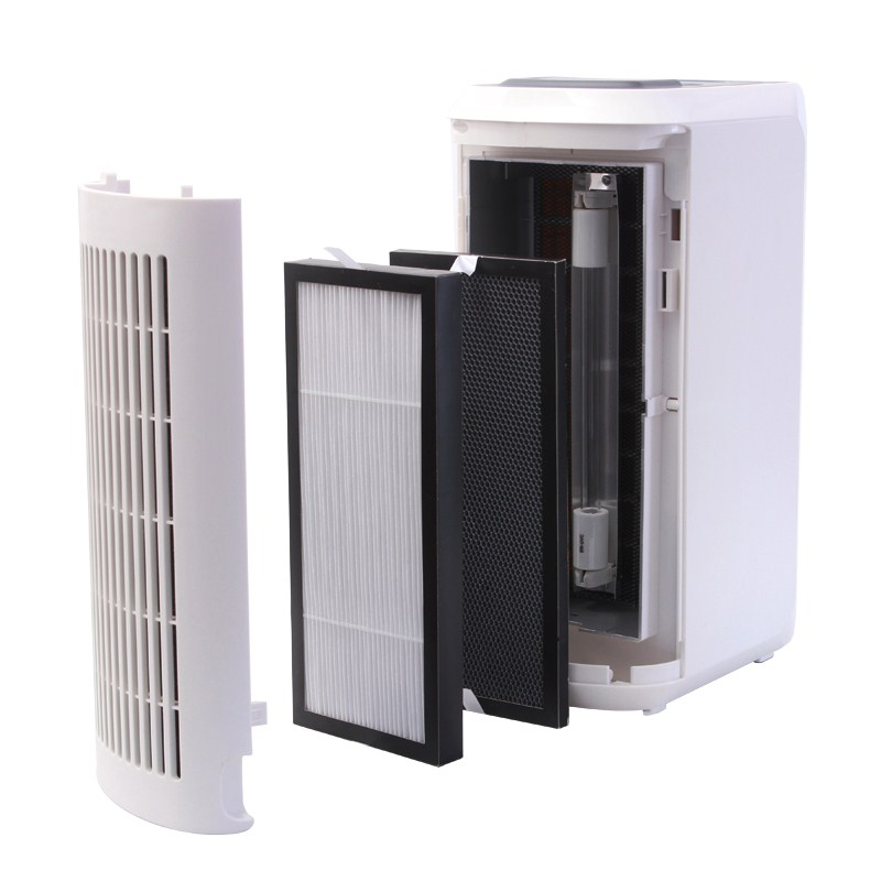 Bedroom air purifier, household formaldehyde removal, smoke and dust removal, photocatalyst sterilization, negative ion oxygen bar