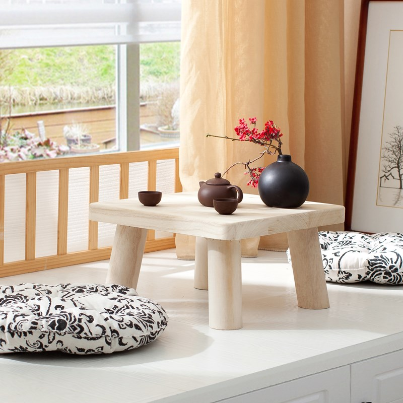 Teriyaki paulownia wood table table table window sill tatami bed Kang several small square table table table
