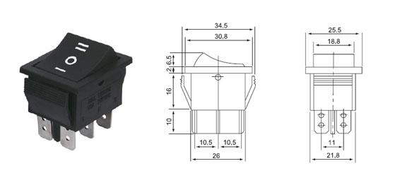 sprzedaż nowych produktów na statku. rongwei popularność RWB-508KCD4 przełącznik zasilania.