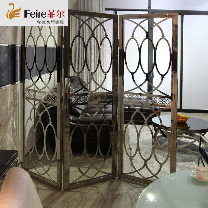 Custom size flower shaped stainless steel screen, European screen, screen partition, fashion screen hollowed out