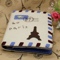 19 shipping manual DIY passport Bag Wallet Gift Tower cloth nonwoven materials package Xinqing free cutting