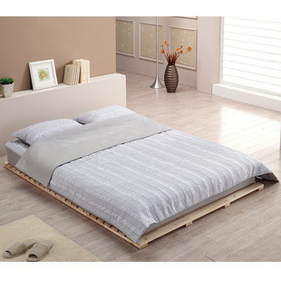 Special offer single bed double bed solid wood bed tatami mat simple flat bed short bed