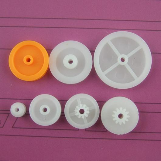 Pacote com 7 tipos de POLIA de engrenagens de plástico fabricação de robôs e um gerador de mão DIY
