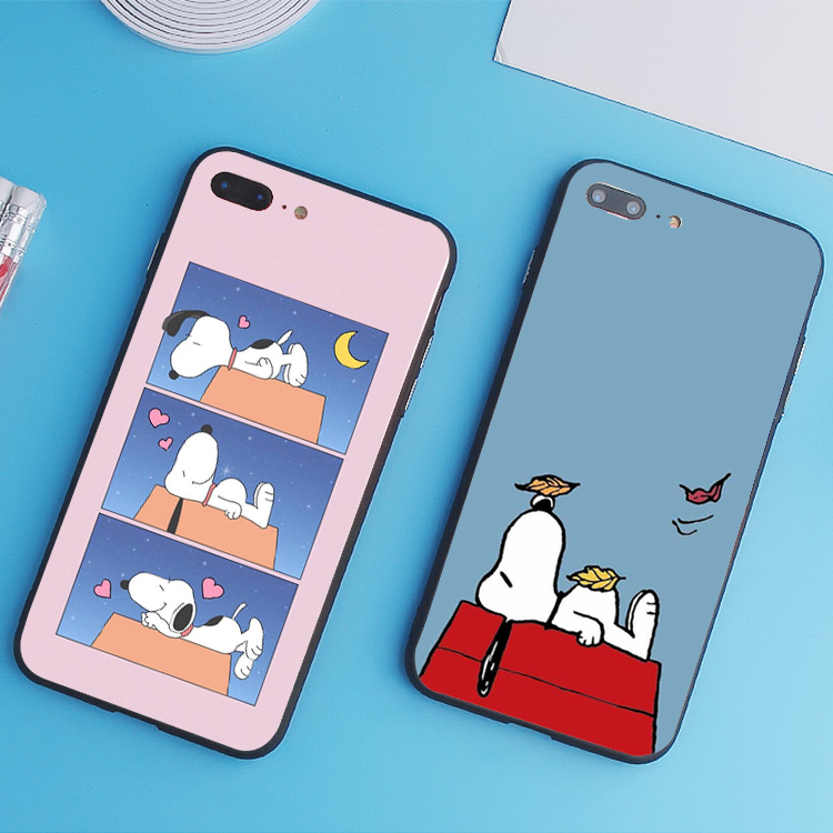 Samsung note3/note4/note5/note7 cartoon Snoopy sprout puppy full package of silicone soft shell