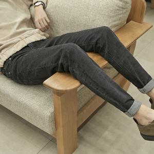 春季权志龙同款复古韩版小脚裤潮男ulzzang直筒修身哈伦牛仔裤子