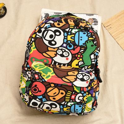 外贸帆布幼儿园卡通书包1-3-6-9岁男女宝宝双肩旅行休闲双肩背包