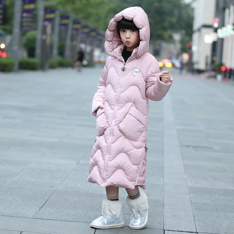 儿童棉衣女童羽绒棉服2017新款中长款冬季中大童韩版加厚女孩棉袄