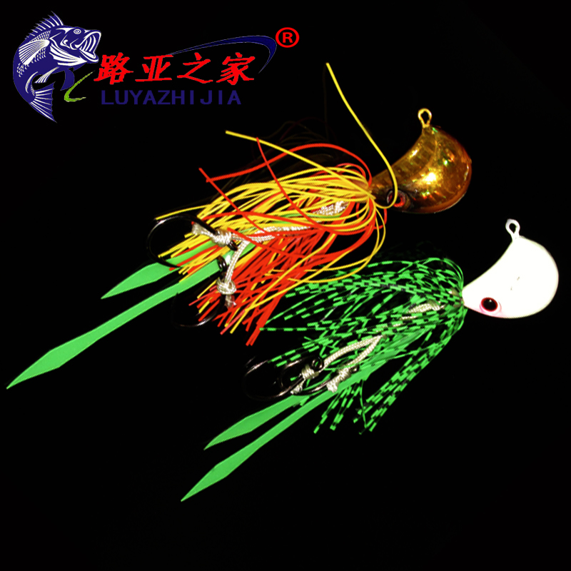 Sea bass fishing bait Octopus squid oil lead head inflammation month beard guy 125/180 grams of iron lures