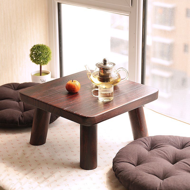 Small square table table table table windows and special offer teriyaki paulownia wood tatami bed table window a few Kang
