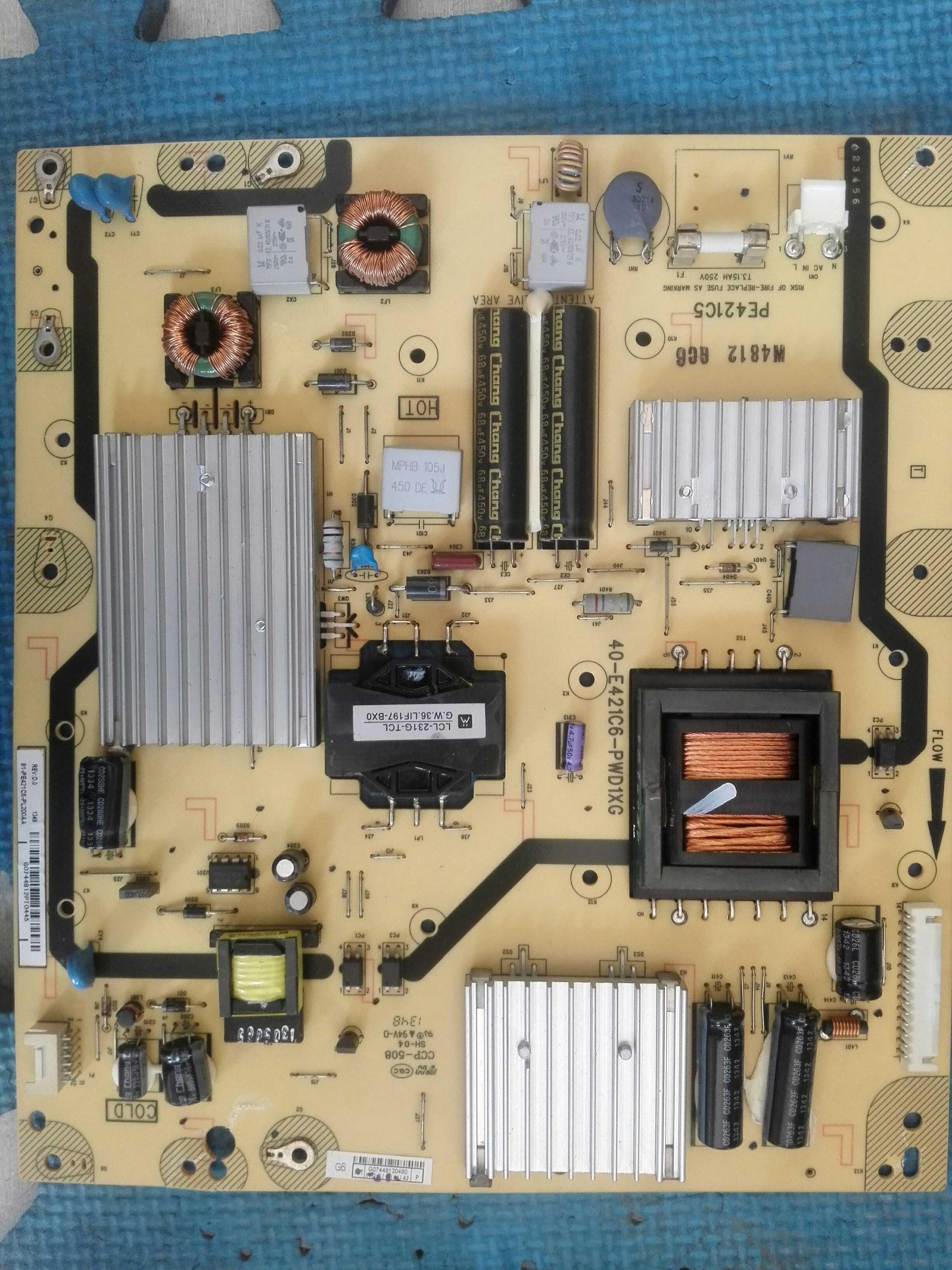 TCL 48寸液晶テレビL48F3500A-3D電源板40-E421C6-PWC1XG回線マザーボード