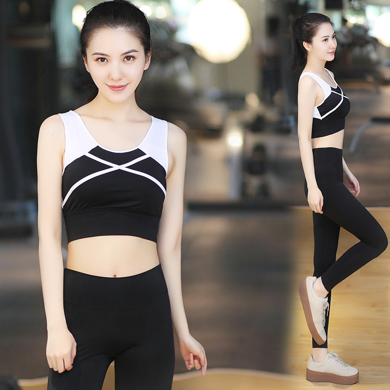 Korean Yoga suit 2017 spring summer women speed dry gym, tight clothing, sports pants, running clothes show slim Yoga