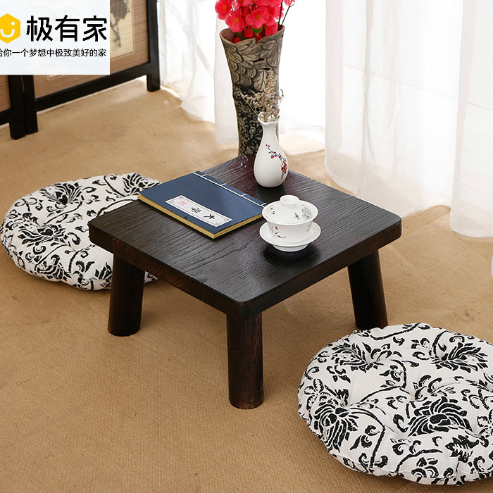 All wood tatami small tea table above the bed table table table table platform home balcony windows Ancient Chinese Literature Search table table