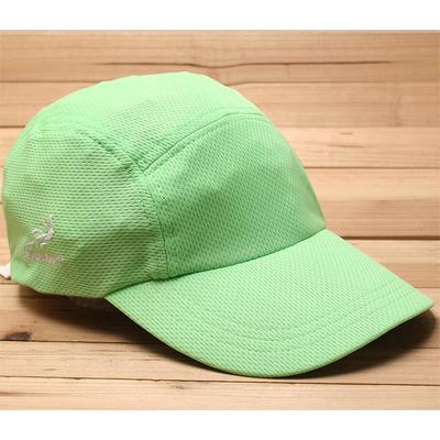 超轻速干光身纯色荧光绿户外遮阳运动帽铁人三项慢跑马拉松吸汗带原单