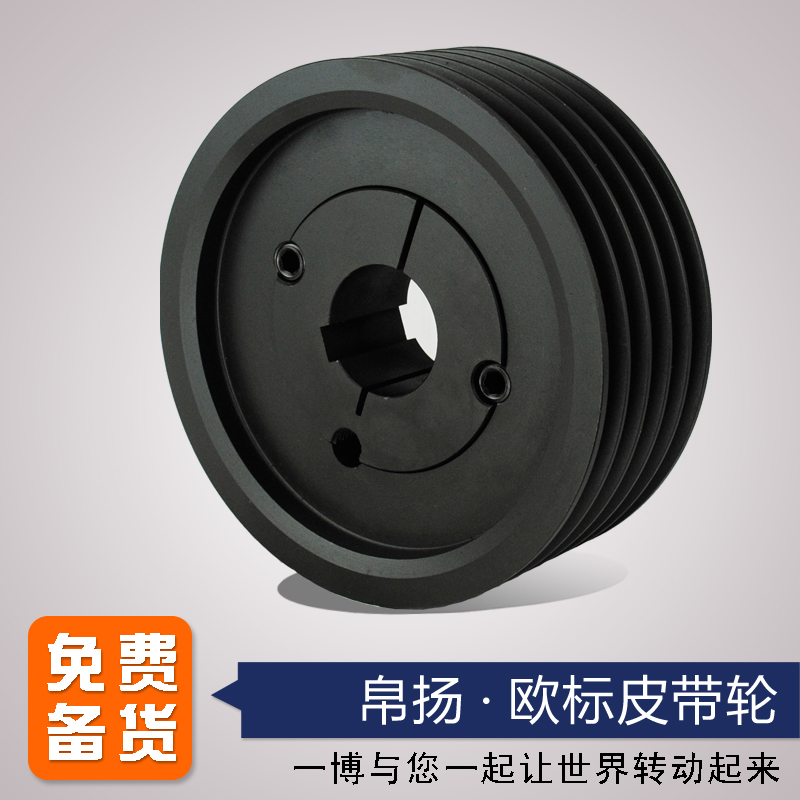 Bo Yang European standard V belt wheel 5 slot SPC375-05 sleeve 3535 cast iron squeezer filter press