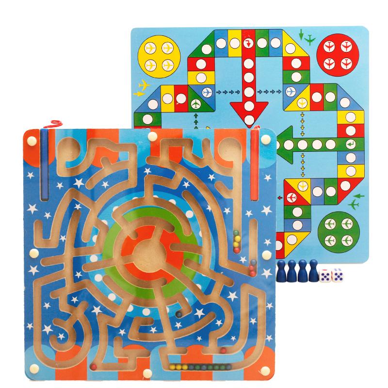 La force magnétique de billes avec le puzzle aller nager semi - 4 - enfant bébé bois de jouer le jeu de 5 ans 2 stylos labyrinthe 6 femmes âgés de 3 hommes de produit