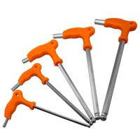L type inner six angle wrench, T-shaped six angle screwdriver, T type six square wrench, DIY crutch, six corner spanner