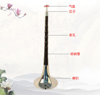 Folk musical instrument professional national musical instrument suona playing adult beginner suona horn size ebony weddings and funerals