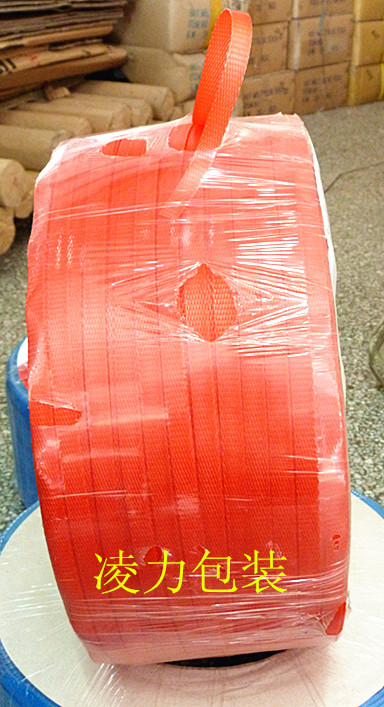 Red packing belt, new material machine, hot melt strapping belt, automatic packing belt, transparent machine packing belt