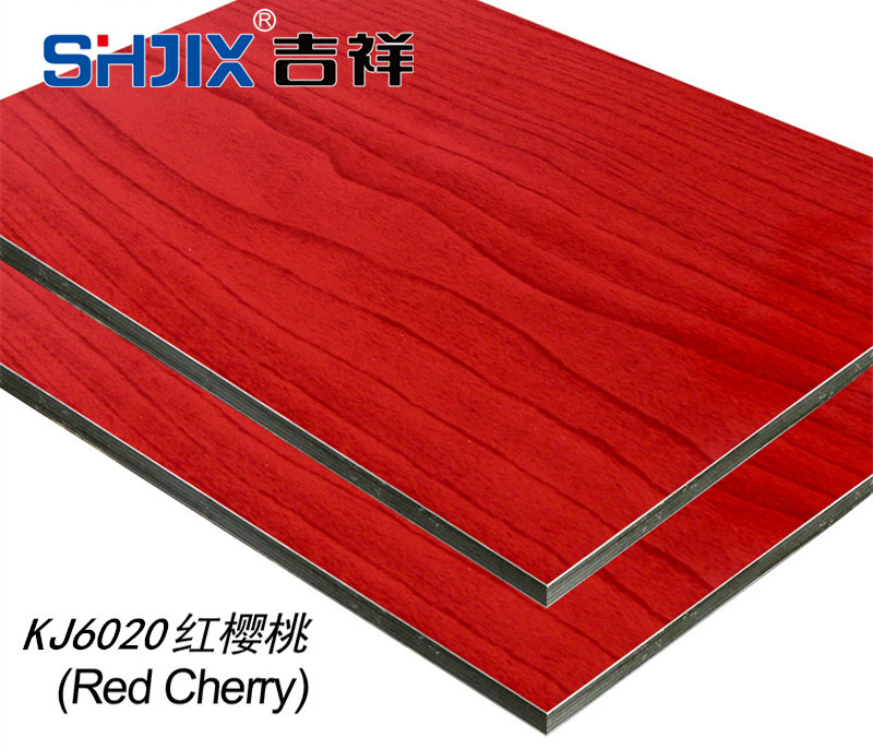 Authentic Shanghai auspicious aluminum plastic board, 3mm15 silk, red cherry aluminum plastic plate, interior and exterior wall advertising curtain wall decoration