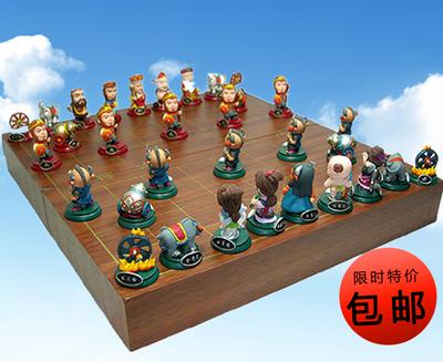 包邮儿童玩具创意生日礼物西游记立体人物象棋Q版公仔棋