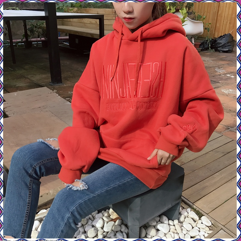 ez nini egyedi BIGKING 秋冬 han van otthon tanulók és hímzés zsebébe tűzött bandafőnök kapucnis széles