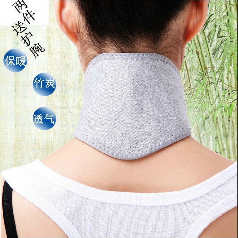 Summer bamboo charcoal neck protection with air conditioning, warmth, breathable neck protection, men and women, autumn and winter self heating neck