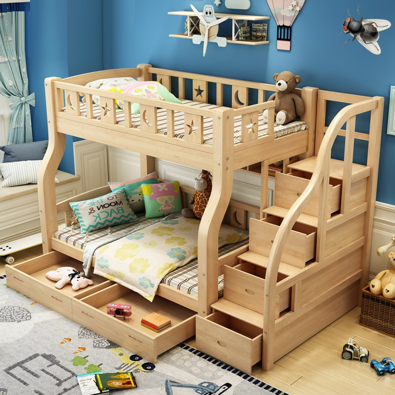 Happy mother bed double bed bed loose bed children under the mother of all solid wood bunk bed bed bed bunk