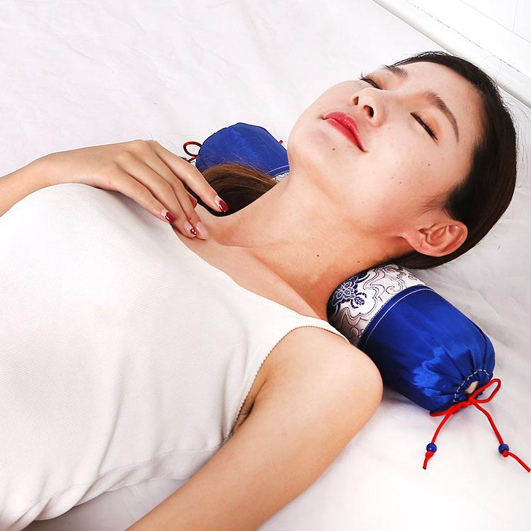 頸椎の枕ケツメイシ夏助け頸椎護頚枕枕枕円形充填物ポリエステル繊維枕
