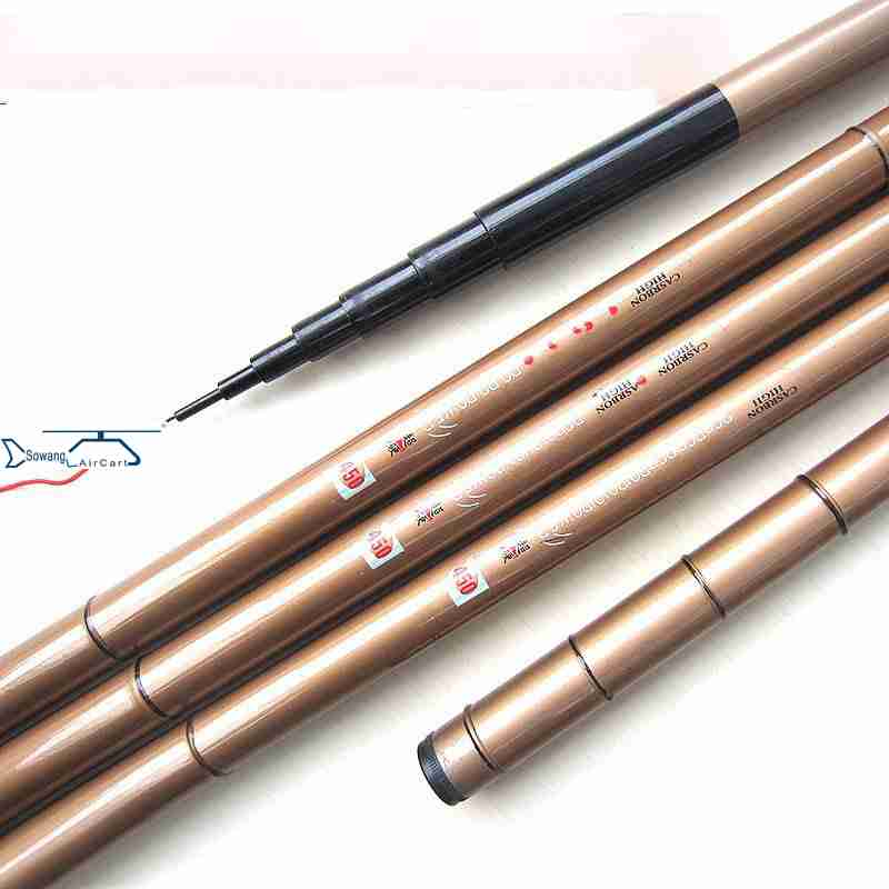 Short carbon rod three positioning rod rod streams of ultralight superhard ultra fine fishing rod