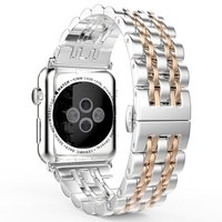 Suitable for Apple watch stainless steel watchband, apple metal watch band, Iwatch Chain Watch Strap, steel man