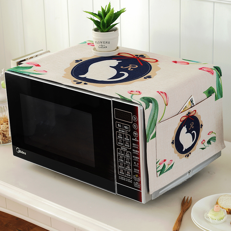 The microwave oven Galanz beauty cartoon Mianma cloth dust cover towels cover hood oven oil set.