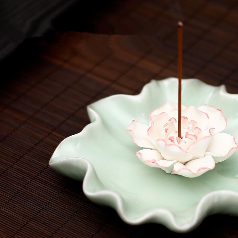 Ароматерапия печи небольшой кадило Lotus фимиам включить устройство декоративных керамические Будды аромат сандалового дерева прячется кадило ладан сжечь благовония