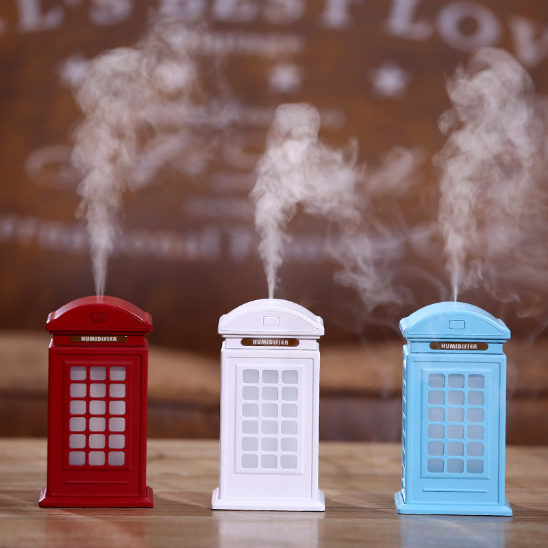 Creative new retro Mini booth office air purifying humidifier aromatherapy essential oils desktop gifts