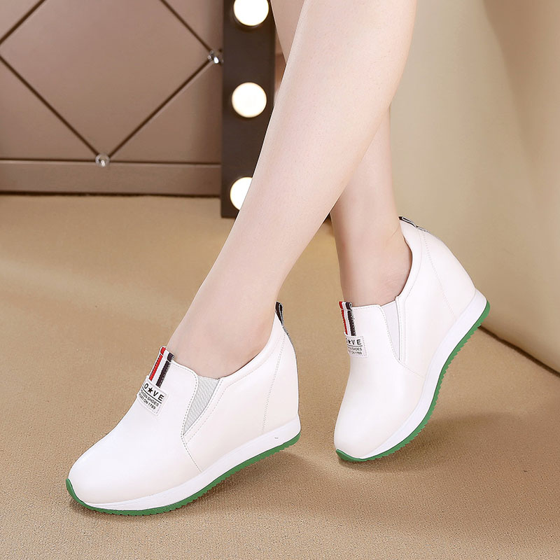 2017新款內增高小白鞋女鞋秋季百搭韓版秋鞋休閑鞋高跟坡跟單鞋子