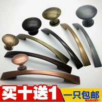 The new world Ling hole distance 96mm zinc alloy cabinet door handle modern minimalist furniture American wardrobe drawer handle