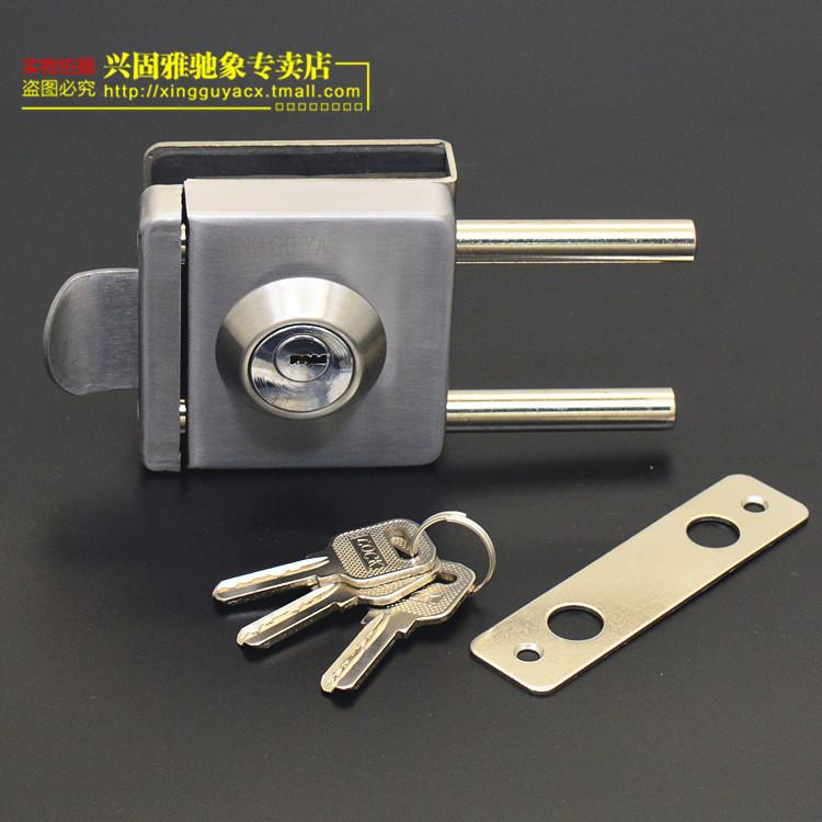 - lås dörren utan ram, rostfritt stål, glas, glas, lås dörren öppnas utan glas, dubbel - rod.