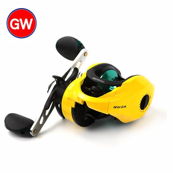 Guangwei GW.CA carrete de pesca de gotas de agua 路亚轮 rueda rueda rueda derecha freno magnético de pesca